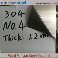 Food Grade No.4 Finish Austenitic Stainless Steel Sheet AISI 304 304L 1.4301